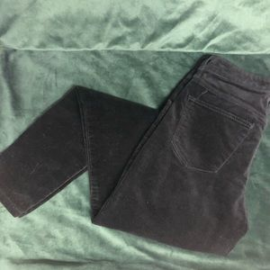 Mossimo High Rise Black Velvet Pant Sz 00 / 24 R
